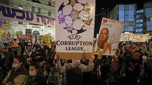 vaste manifestation anti-Netanyahu