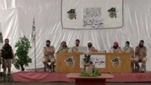 """اجتماع عناصر من جماعة """"جيش الإسلام"""" في سوريا"""