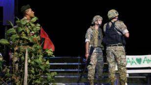 جنود من الجيش اللبناني في قرية العديسة بالقرب من الحدود اللبنانية الإسرائيلية