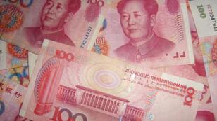 أوراق نقدية من العملة الصينية اليوان