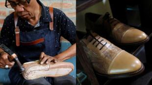 الشاب الاندونيسي الذي يصنع الأحذية من أرجل الدجاج + الحذاء الذي تمت صناعته