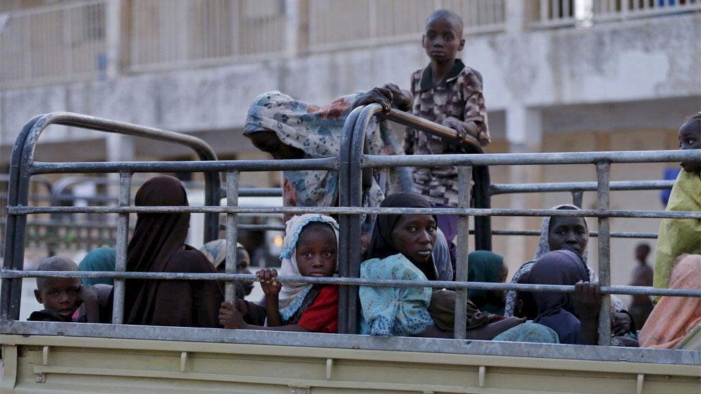 أطفال تم إنقاذهم من جماعة بوكو حرام