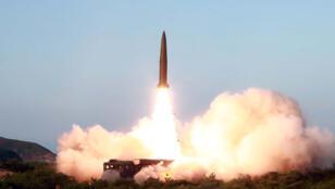 الصاروخ الذي أطلق خلال التجربة الكورية الشمالية