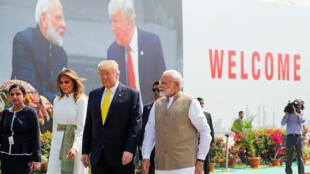 ترامب أثناء زيارته للهند