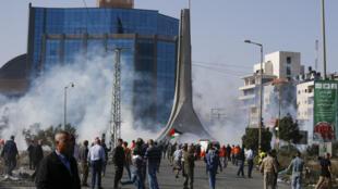 الاحتجاجات في رام الله يوم 26 نوفمبر 2019