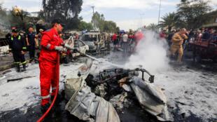 انفجار في العاصمة العراقية بغداد