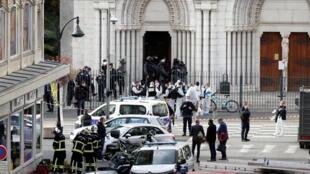 صورة لكنيسة نيس التى حصل فيها الإعتداء الإرهابي يوم 29 أكتوبر 2020