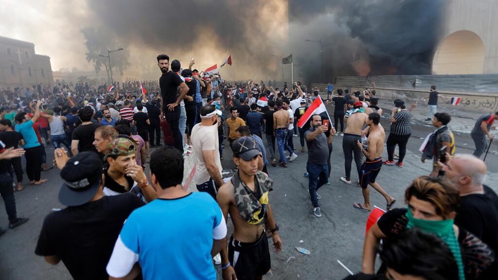 Image result for احتجاجات العراق 2019