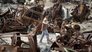 مقبرة سيارات قديمة في بغداد