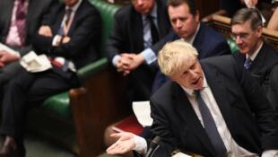 بوريس جونسون أمام البرلمان البريطاني