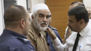 رائد صلاح خلال محاكمته عام 2017