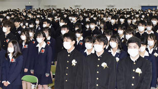 في إحدى الثانويات في اليابان