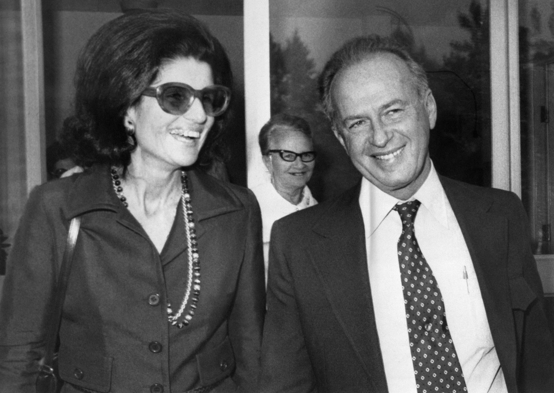 isaac rabin et son epouse 1974