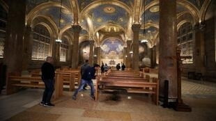 ISRAEL-PALESTINIANS-CHURCH-FIRE