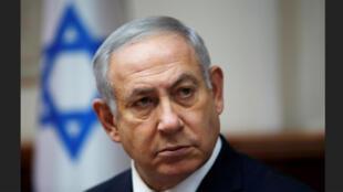 رئيس وزراء اسرائيل بنيامين نتنياهو في القدس يوم 25 نوفمبر 2020