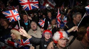 احتفالات البريطانيين بخروخ بريطانيا من الاتحاد الأوروبي