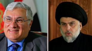 مقتدى الصدر زعيم التيار الصدري ورائد فهمي سكرتير اللجنة المركزية للحزب الشيوعي العراقي/ فيسبوك