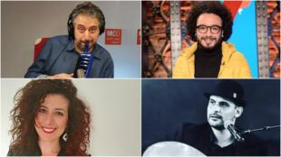 من اليمين محمد شميس،ايلي معلوف،ابراهيم نجم،رشا حلوة