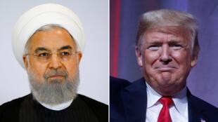 الرئيس الإيراني حسن روحاني ونظيره الأمريكي