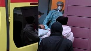 عند دخول المعارض نافالني المستشفى الألماني