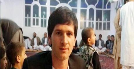 صورة شاب كثير الشبه بميسي في مسجد في أفغانستان نشرت على مواقع التواصل الاجتماعي