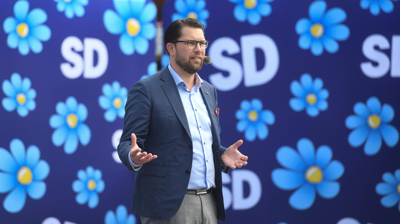 جيمي أكيسون زعيم الحزب الديمقراطي اليميني السويدي