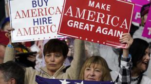 شعار حملة الرئيس ألأمريكي دونالد ترامب للإنتخابات المقبلة