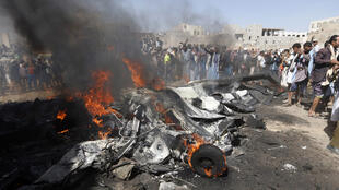 انفجار طائرة بدون طيار، صنعاء (01-10-2017)