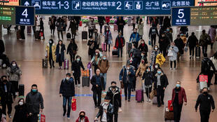 صورة من محطة القطارات في العاصمة بيكين يوم 24 يناير-كانون الثاني 2020