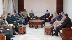 لقاء الأسد مع وزير الدفاع الإيراني