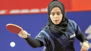 لاعبة كرة الطاولة القطرية آية مجدي