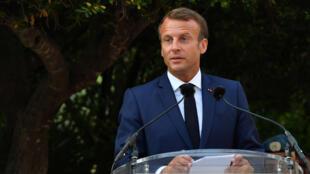 الرئيس الفرنسي ايمانويل ماكرون-