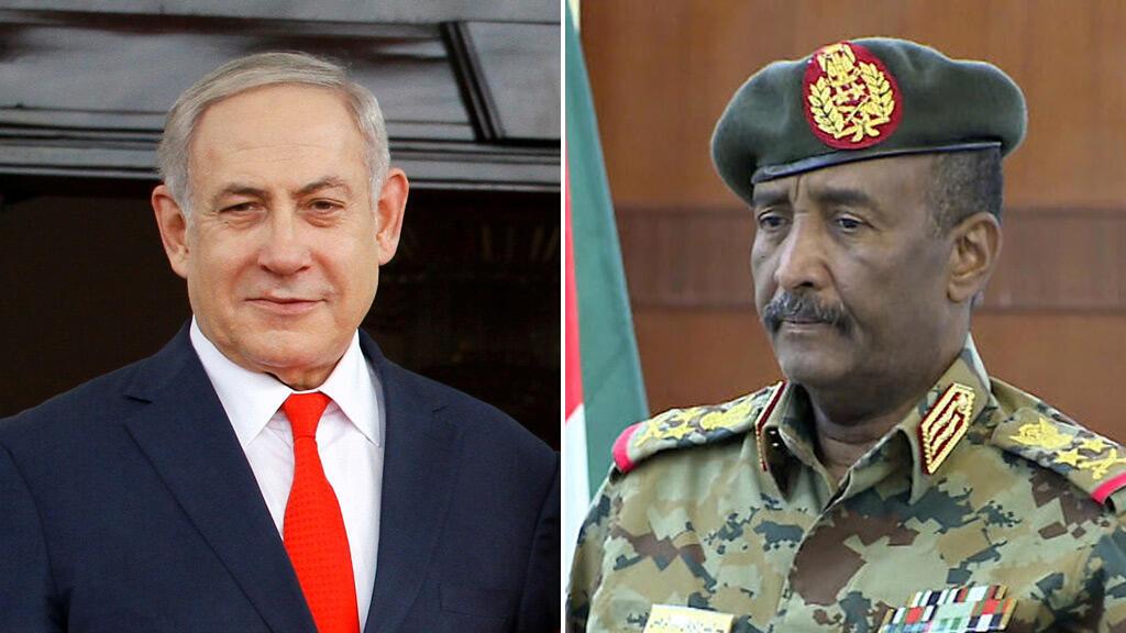 عبد الفتاح البرهان وبنيامين نتانياهو