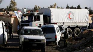 مساعدات انسانية لمحاصري الغوطة الشرقية