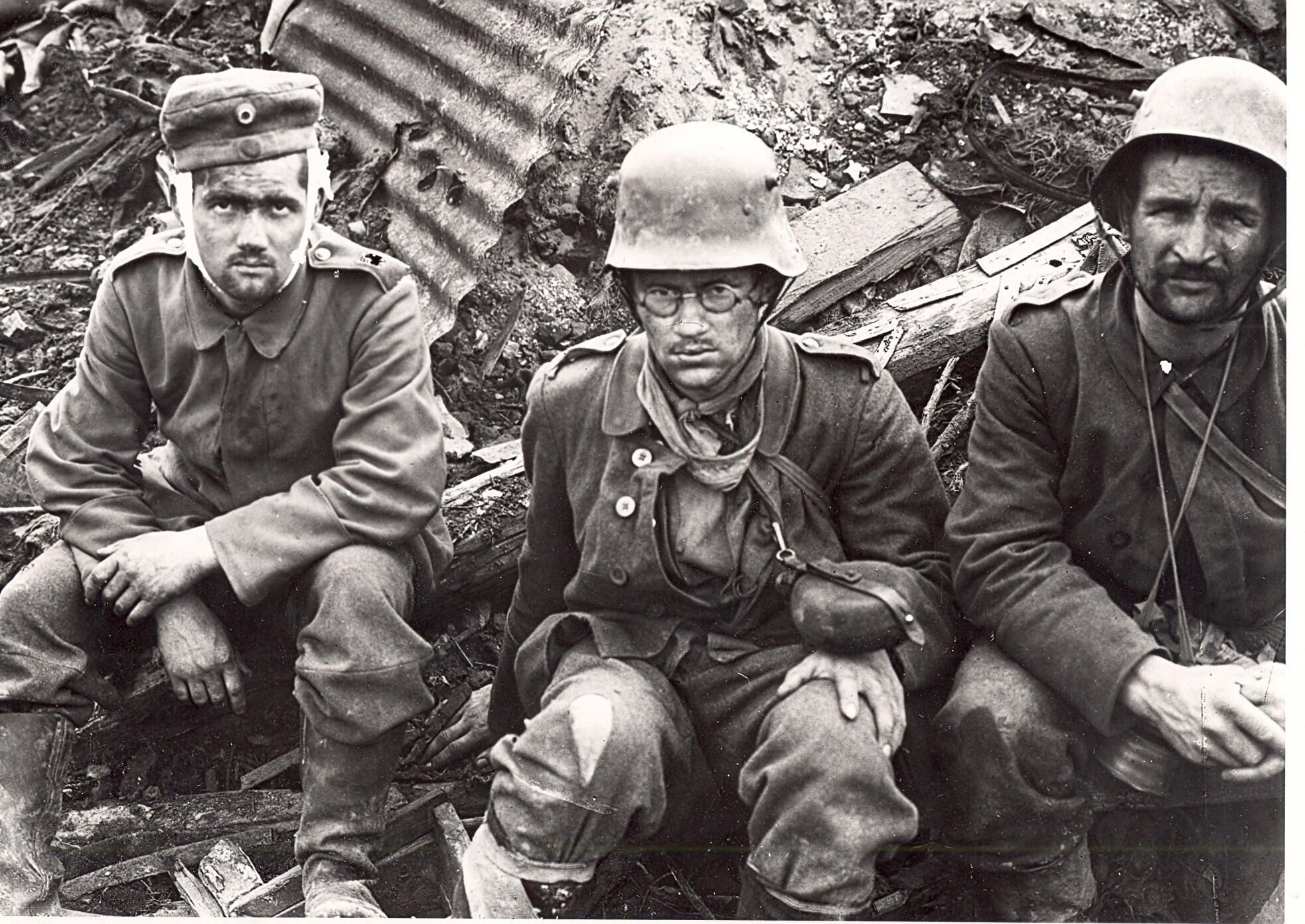 صورة لجنود شاركوا في الحرب العالمية الأولى