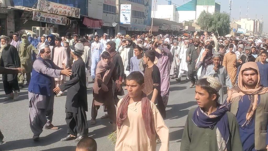 مظاهرة لأفغان في مدينة قندهار ضد طالبان