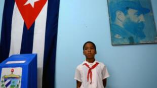 مكتب اقتراع في كوبا