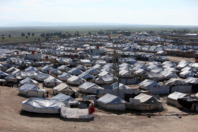 مخيم الهول في محافظة الحسكة، سوريا
