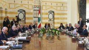 اجتماع رؤساء الأحزاب اللبنانية في بعبدا