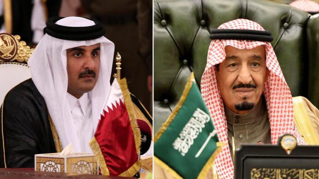 أمير قطر الشيخ تميم بن حمد آل ثاني وملك السعودية  سلمان بن عبد العزيز-