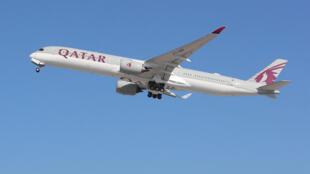 طائرة Airbus A350 تابعة للخطوط الجوية القطرية