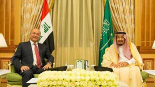 العاهل السعودي والرئيس العراقي
