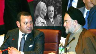 الرئيس الإيراني محمد خاتمي مع ملك المغرب محمد السادس خلال اجتماع لمنظمة المؤتمر الإسلامي في كوالا لمبور بماليزيا يوم 26 فبراير/ شباط 2003