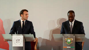 مؤتمر صحافي بين إيمانويل ماكرون والحسن واتارا في ساحل العاج