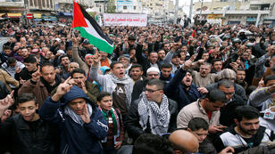 الآلاف يتظاهرون في عمان تضامنا مع الفلسطينيين