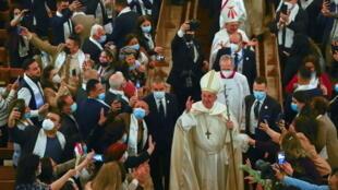 خلال زيارة البابا للعراق