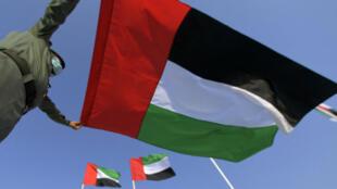 علم الإمارات في مدينة دبي