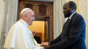 البابا فرنسيس ورئيس جنوب السودان