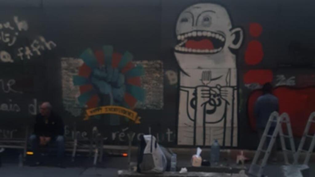 رسم غرافيتي في شوارع بيروت