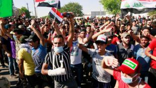 مظاهرة احتجاجية في بغداد يوم 4 اكتوبر 2019